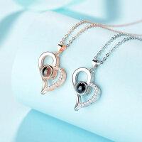 Damen Halskette 925 Herz Ich liebe dich Schmuck 100...