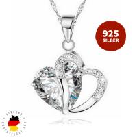 Halskette Doppelherz Silber