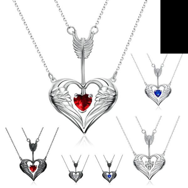 Pfeils durch die Herzanhängerkette Europa und Amerika mehrschichtige Halskette Modeflügel