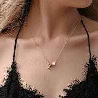 Damen Halskette Namenskette mit Buchstaben (A-Z) Herz...
