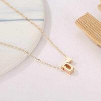 Damen Halskette Namenskette mit Buchstaben (A-Z) Herz Geschenk Damenhalskette