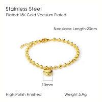 18K Armband Vergoldet mit Herz Anhänger