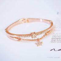 Armband Armreif Kristall mit Stern Rosegold