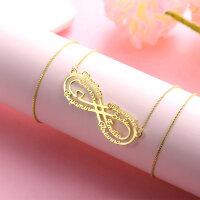 Namenskette Silber Gold Rosegold Edelstahl