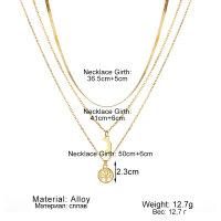 Halskette Lebensbaum mit Halbmond Mond