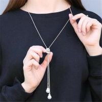 Halskette Lang Perle Damen Lagenlook Modeschmuck Modekette