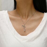 Halskette dreifarbige Rose Blumefür Freundin Valentinstag Geschenk