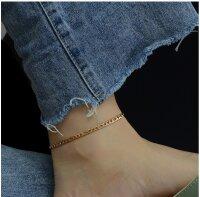 Damen Fußkette Statement Gliederkette Gold Kette...