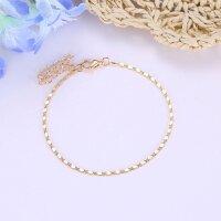 Damen Fußkette Gold Klassisch Fusskette Armband...