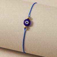 Nazar Boncuk Armband Fusskette Blau böses Auge...