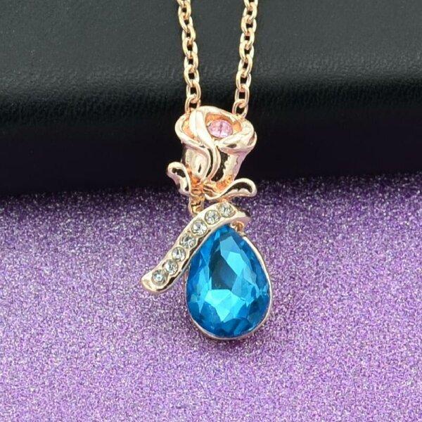 Rose Gold/Blau